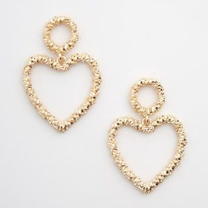 NWT Love Is In the Flair Gold Earrings